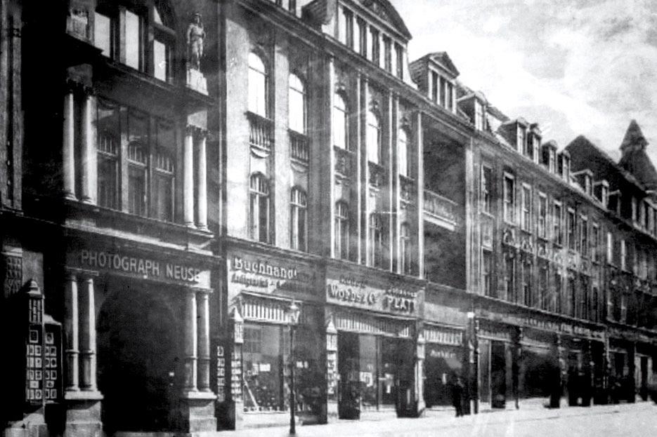 Ein alte Ansicht aus Görlitz - die Jakobstraße früher